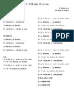 Al shlosha d´varim - letra