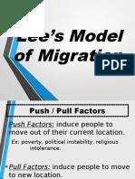 Aphug Lees Model of Migration