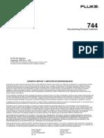 Fluke 744 Manual de Usuario