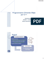 Programmation Orientée Objet par C++ Héritage et fonctions amies 2015-2016