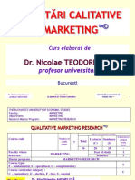 Master Cercetari de Marketing
