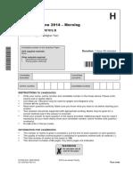 245289 Question Paper Unit j567 03 Paper 3 Higher Tier