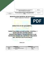 Directiva Transferencia a Centro Poblado 2012