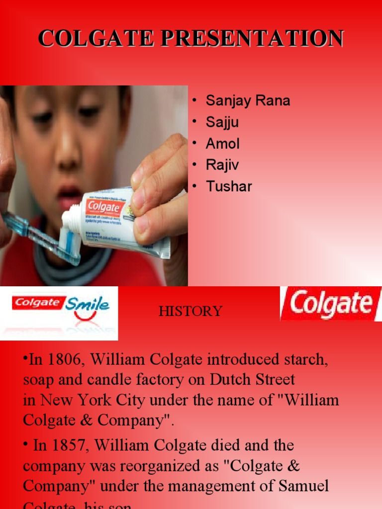 Colgate Toothpaste Advertisement on Consumers