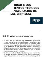 LOS FUNDAMENTOS TEÓRICOS EN LA VALORACIÓN DE LAS EMPRESAS
