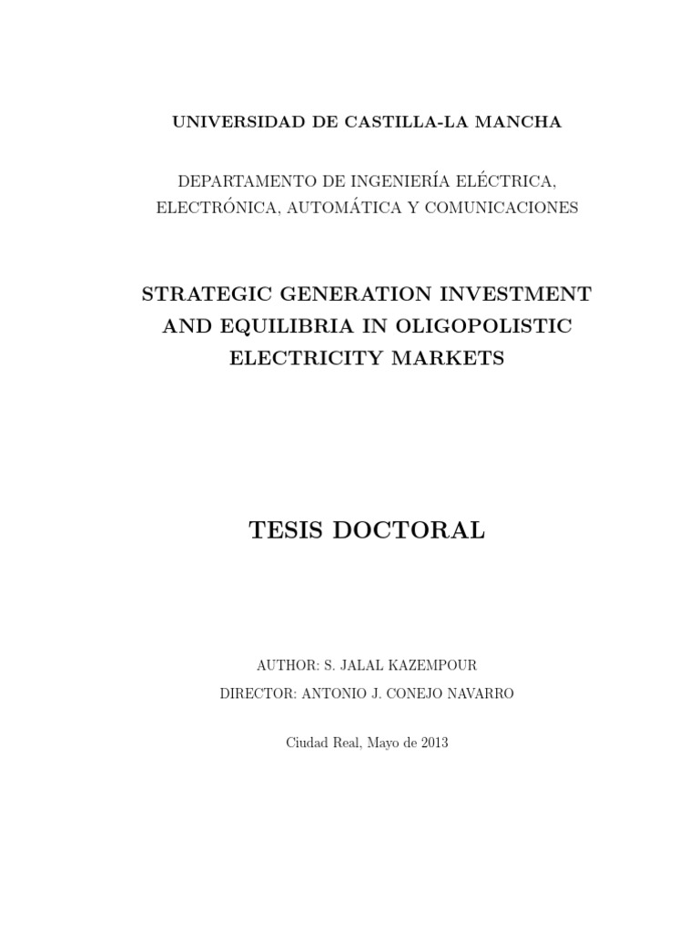 Phd thesis in microeconomics