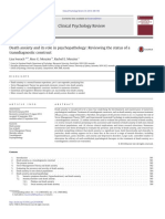 Iverach Death Anxiety and Its Role in Psychopathology Reviewing the Status of a Transdiagnostic Construct 2014