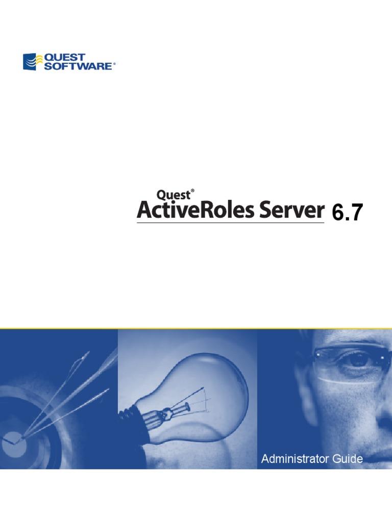 ActiveRolesServer 6 7 AdminGuide (English) | Active