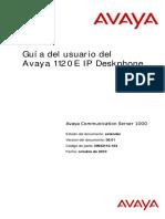 Manual Configuracion Avaya 1120e IP