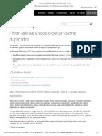 Filtrar Valores Únicos o Quitar Valores Duplicados - Excel