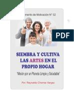 SIEMBRA Y CULTIVA LAS ARTES EN EL HOGAR