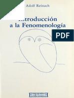 Adolf Reinach, Introducción a la fenomenología