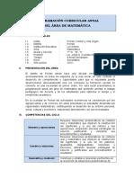 193882202 Programacion Curricular Anual Matematica 1ro Sec 2014