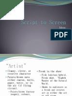 Script to Screen Ideas 2