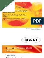 Experto en Sistemas de automatización DALI y aplicaciones con Leds ofrece conferencia - Ing. David Gasser