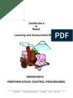 Perform Stock Control Procedures - A strategic guide