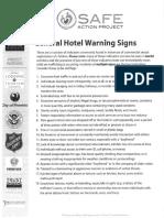 General hotel warning signs