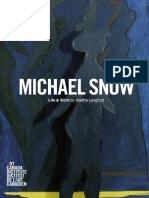 Michael Snow Life and Work
