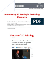 CUNY IT 15 Presentation - Incorporating 3D Printing in the Biology Classroom - Ahn, Letnikova, Xu
