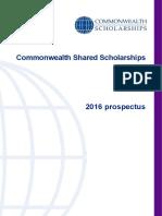 Prospectus Shared Scholarships 2016