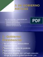 Formas de Gobierno Democráticas