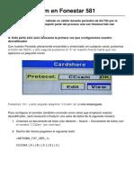 Guía CCcam en Fonestar 581