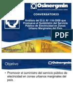 Capítulo de Ingeniería Eléctrica realizó Mesa Redonda sobre Análisis del Decreto de Urgencia 116-2009 - Ing. m. Revolo