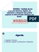 Importante Mesa Redonda fue organizada por el Capítulo de Ingeniería Eléctrica sobre la Interconexión eléctrica con Brasil - Ing. c. Montero