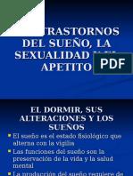 Los Trastornos Del Sueño, La Sexualidad y El Apetito