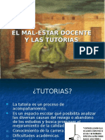 Tutorias y Mal-estar Docente