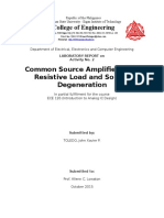 Common Source Amplifier with Resistive Load and Source Degeneration