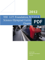 Class VIII I.I.T.foundation, N.T.S.E.& Science Olympiad Curriculum & Chapter Notes