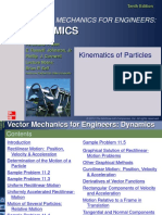Ch11 Kinematics of Particles