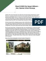 Iklan Rumah Dijual Di BSD City Harga 6 Miliaran – Hunian Asri, Nyaman Untuk Keluarga - www.clububuntu.com