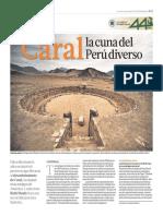 Caral, La Cuna Del Universo. El Comercio. Dominical