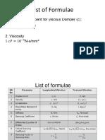 List of Formulae-transmissibility