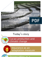 Agricultural insurance with downscaled climate information