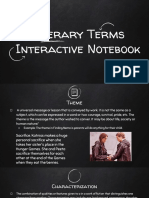 literary terms interactive notebook