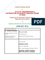 Report on t&d in India