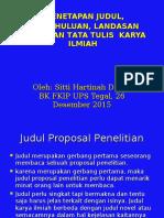 Workshop Penulisan Skripsi 26-12-2015