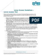 GED 2014 Extended Response Answer Guideline - Social Studies
