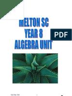 Algebra curriculum planner