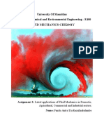 Various Applications of Fluid Mechanics