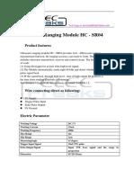 HCSR04 data fro