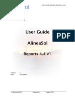 User Guide AlineaSol Reports