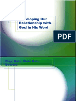 developing our relationship with god in his word