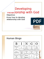developing relationship with god