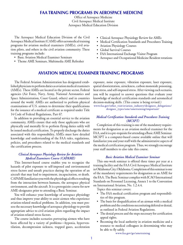 Aviation Medicine Aviation Medicine