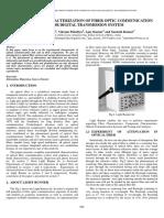 Experimental Characterization of Fiber Optic Communication
