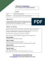 Cisco PIX Firewall Fundamentals